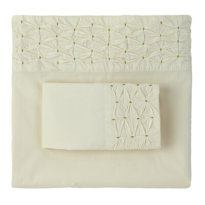 Finley Pintuck 300 Thread Count Pillow Case Color: Willow