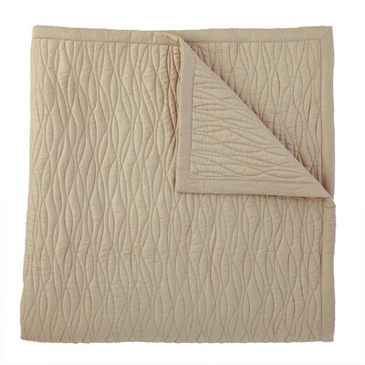 Fountain Quilted Sham Size: King, Color: Driftwood