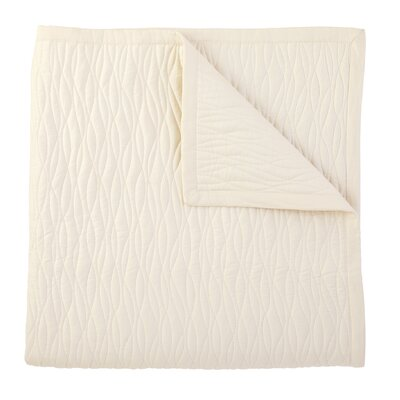 Fountain Quilted Sham Color: Ivory, Size: Standard