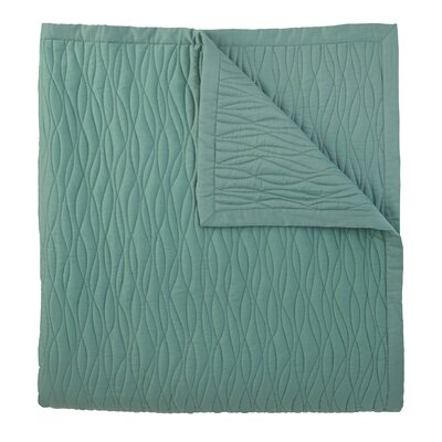 Fountain Quilt Color: Lake, Size: Full/ Queen