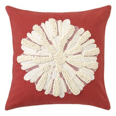 Asters Cotton Throw Pillow Color: Newport Red