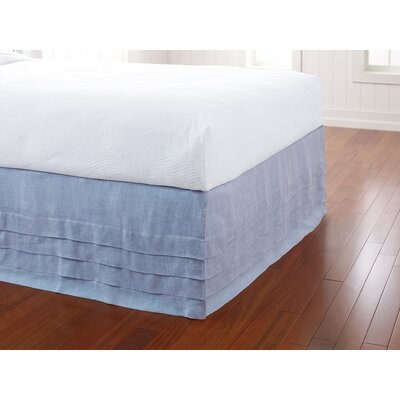 Waterfall Panel Bedskirt Size: King, Color: Capri Blue
