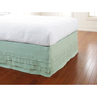 Waterfall Panel Bedskirt Color: Lake, Size: Twin