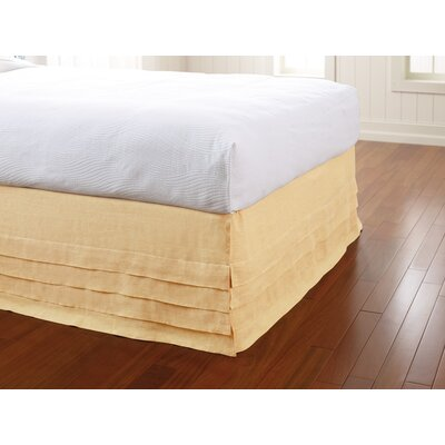 Waterfall Panel Bedskirt Size: King, Color: Sun