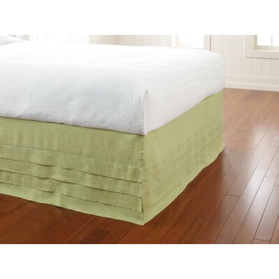 Waterfall Panel Bedskirt Size: King, Color: Willow