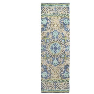 Oasis Blue Area Rug Rug Size: Runner 26 x 8