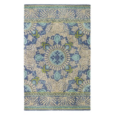 Oasis Blue Area Rug Rug Size: Rectangle 5 x 8