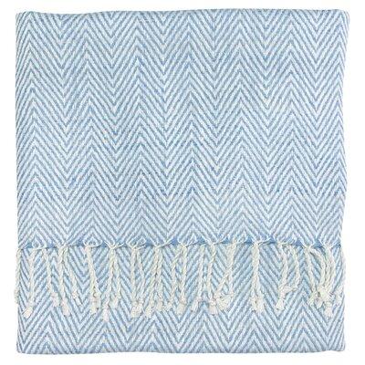 Staccato Silk Throw Color: Capri Blue