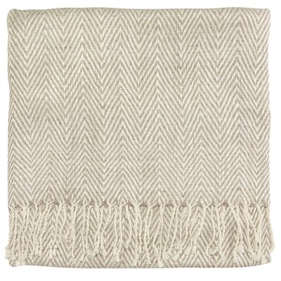 Staccato Silk Throw Color: Off White