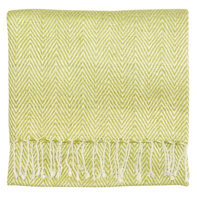 Staccato Silk Throw Color: Willow
