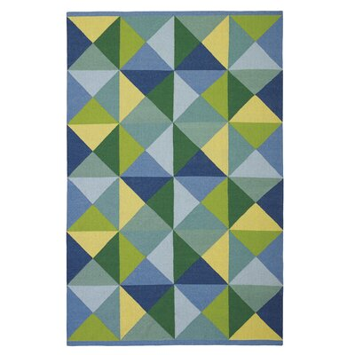 Diamonds in the Rough Blue Area Rug Rug Size: 5 x 8