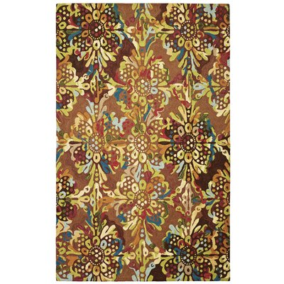 Drip and Splash Toffee Area Rug Rug Size: Square 1