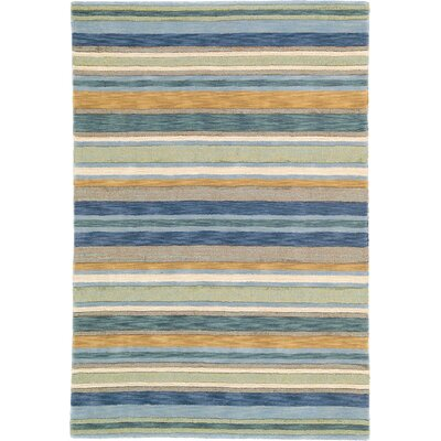 Sheffield Sea Grass Striped Rug Rug Size: Rectangle 4 x 6