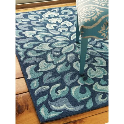 Petal Pusher Mineral Blue Indoor/Outdoor Area Rug Rug Size: 5 x 8