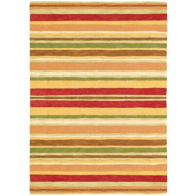 Sheffield Poppy Striped Rug Rug Size: 5 x 8