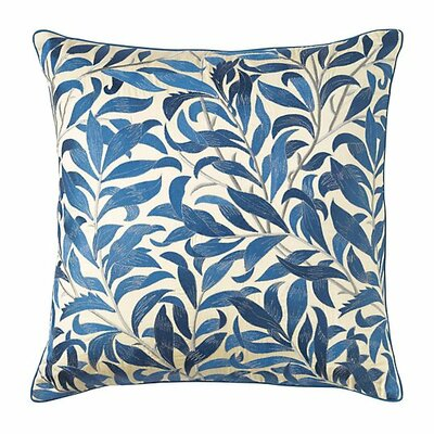 Arden Cotton Throw Pillow Color: Mineral Blue