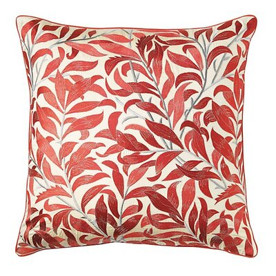 Arden Cotton Throw Pillow Color: Newport Red
