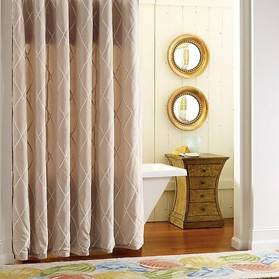 Calypso Cotton Shower Curtain Color: Driftwood