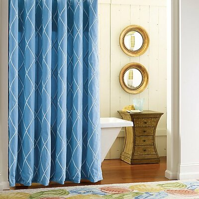 Calypso Cotton Shower Curtain Color: Capri Blue