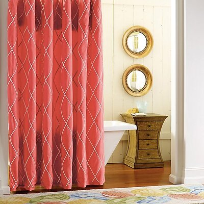 Calypso Cotton Shower Curtain Color: Newport Red