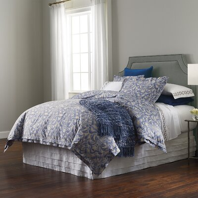 Axelle Duvet Cover Color: Slate Blue, Size: King