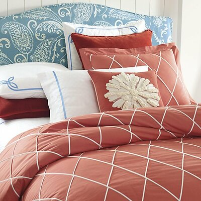 Calypso Duvet Cover Color: Newport Red, Size: King
