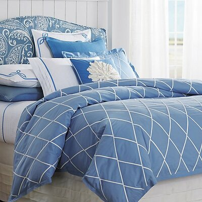 Calypso Duvet Cover Color: Capri Blue, Size: Twin