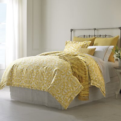 Axelle Duvet Cover Color: Gold, Size: King
