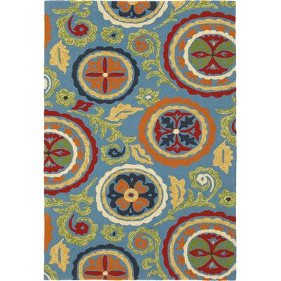 Fair Winds Denim Blue Medallion Indoor/Outdoor Area Rug Rug Size: Runner 26 x 8