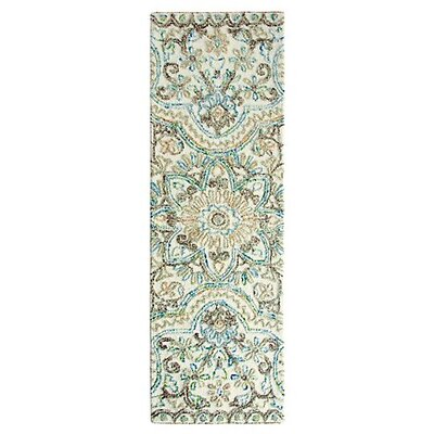Agra Hand-Tufted Multicolor Area Rug Rug Size: Runner 26 x 8