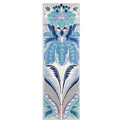 Passionflower Blue Area Rug Rug Size: Runner 26 x 8