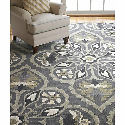 Pierre Pewter Area Rug Rug Size: Rectangle 5 x 8