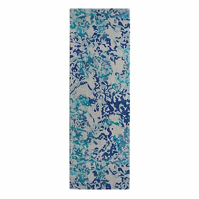 Venetian Blue Iris Area Rug Rug Size: Runner 26 x 8