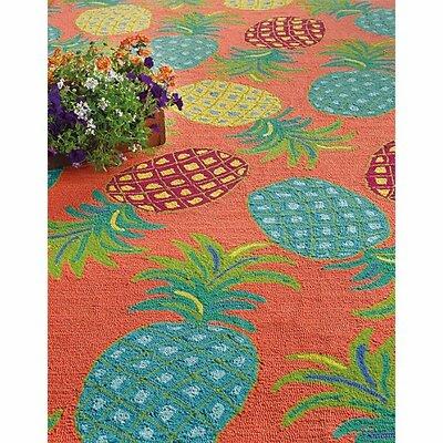 Pineapples Coral Indoor/outdoor Area Rug