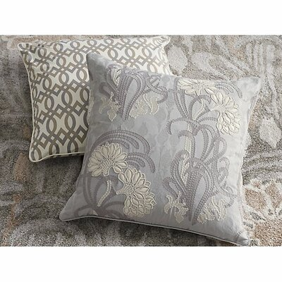 Lotus Cotton Throw Pillow