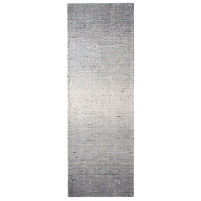 Sari Stripe Black Area Rug Rug Size: Runner 26 x 8