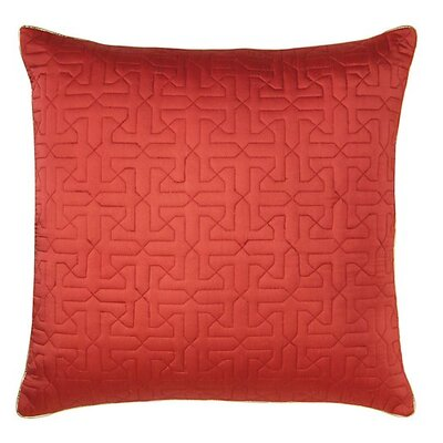 Legato Throw Pillow Color: Newport Red
