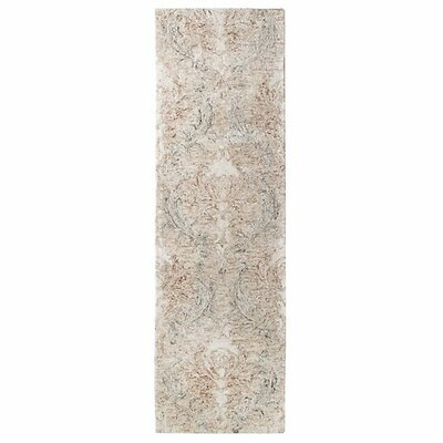 Carrera Damask Stone Area Rug Rug Size: Runner 26 x 8