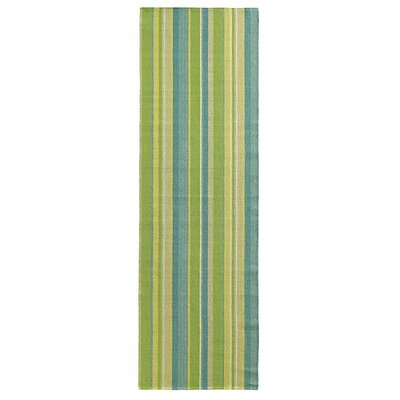 Lime Indoor/Outdoor Area Rug Rug Size: Runner 26 x 8
