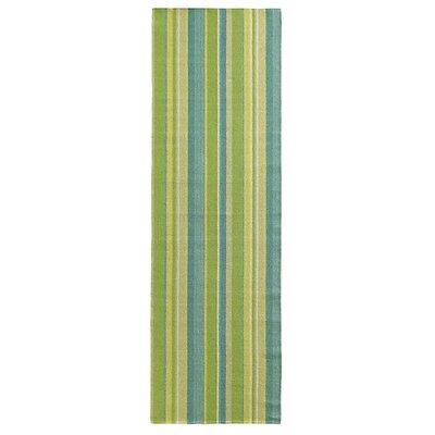 Lime Indoor/Outdoor Area Rug Rug Size: Runner 26 x 8