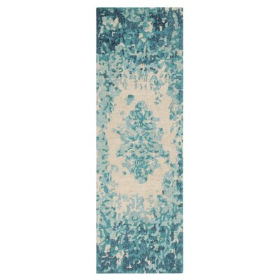 Looking Glass Hand-Tufted Lake Indoor Area Rug Rug Size: Runner 26 x 8