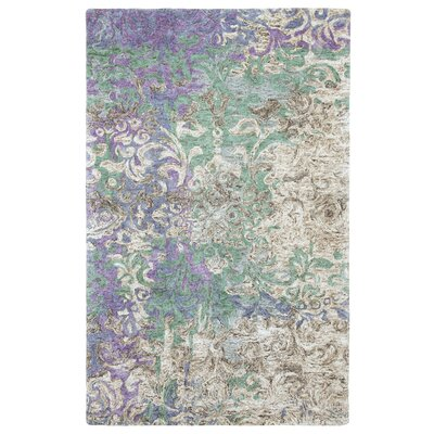 Marquesa Hand-Tufted Blue Indoor Area Rug Rug Size: 5 x 8