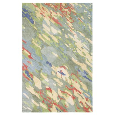 Reflections Hand-Tufted Blue/Green Indoor Area Rug Rug Size: 5 x 8