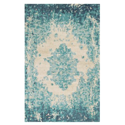 Looking Glass Hand-Tufted Lake Indoor Area Rug Rug Size: Rectangle 5 x 8