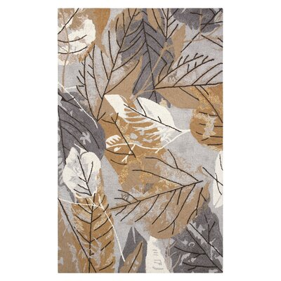 Hickory Hand-Tufted Gray/Brown Indoor Area Rug Rug Size: Rectangle 8' x 10'