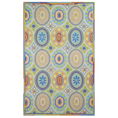 High Jinks Blue/Yellow/Green Indoor Area Rug Rug Size: 5 x 8