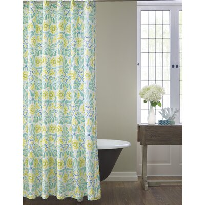 Painted Medallions Sateen Shower Curtain