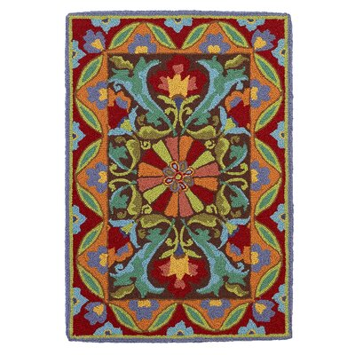 Porcelain Area Rug Rug Size: Rectangle 2 x 3