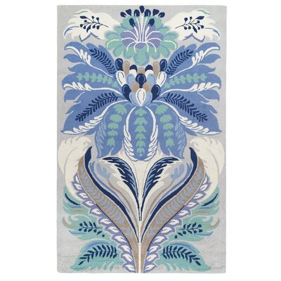 Passionflower Blue Area Rug Rug Size: Rectangle 3 x 5