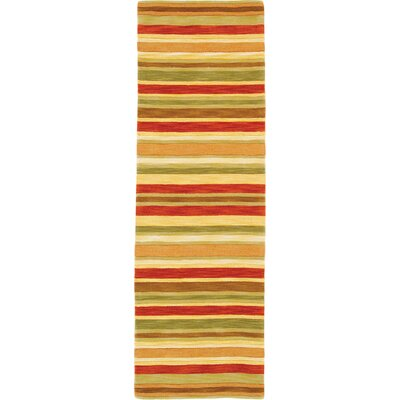 Sheffield Poppy Stripe Rug Rug Size: Runner 26 x 8